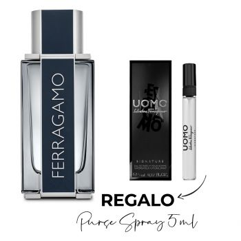 FERRAGAMO MEN EDT 100 ML + PURSE SPRAY 5 ML